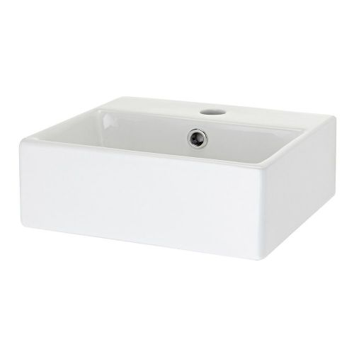 Sophia Rectangular 335mm Vessel Counter Top Basin - 1 Tap Hole